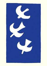 Birds on Blue poster print by Georges Braque