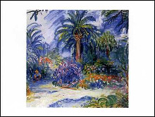 Garden at Saint Tropez poster print by Charles Camoin