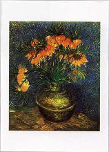 Fritillaries in a Copper Vase poster print by Vincent van Gogh