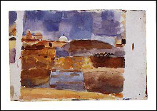 Before the Gates of Kairouan poster print by Paul Klee