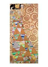 Waiting poster print by Gustav Klimt
