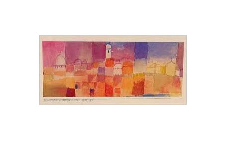 View of Kairouan poster print by Paul Klee