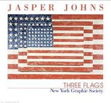 Three Flags poster print by Jasper Johns