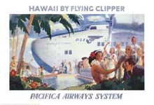 Honolulu Clipper poster print by  Vintage