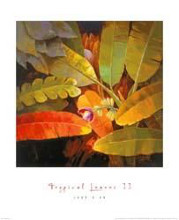 Tropical Leaves II poster print by Jk an