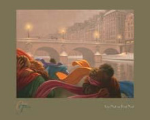 Une Nuit au Pont Neuf poster print by Claude Theberge