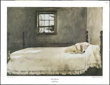 Master Bedroom poster print by Andrew Wyeth