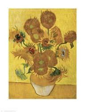 Sunflowers (Yellow) poster print by Vincent van Gogh