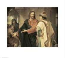 Christ and the Rich Young Ruler poster print by Heinrich Hofman