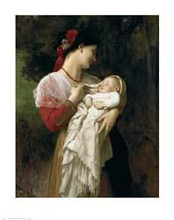Mother Child poster print by William Adolphe Bouguereau