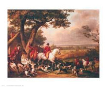 Hunt in the Park in Fountainbleau poster print by Carl Vernet