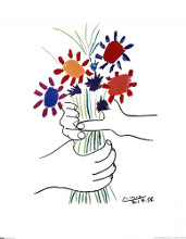Bouquet with Hands poster print by Pablo Picasso