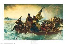 Washington Crossing the Delaware poster print