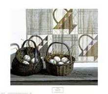 Don't Put All Your Eggs in One Basket poster print by Pauline Eble Campanelli
