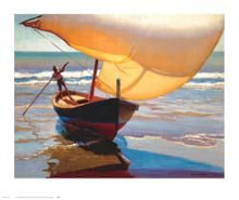 Fishing Boat Spain poster print by Arthur Rider