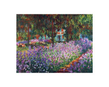 Artist's Garden, Giverny poster print by Claude Monet