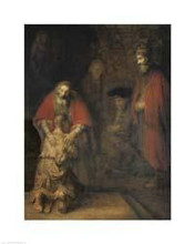 Return of the Prodigal Son poster print by  Rembrandt