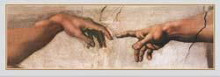 Creation (Hands) poster print by  Michelangelo