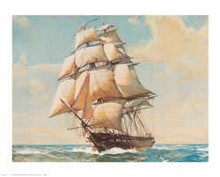 USS Constitution poster print by William James Aylward