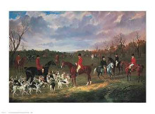 East Suffolk Hounds poster print by John F Herring