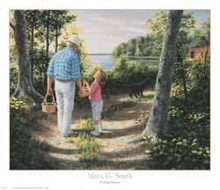 Picking Berries poster print