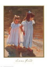 Summer Friends poster print by Nancy Seamons Crookston