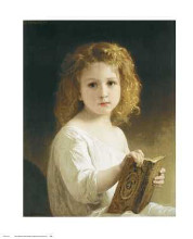 Story Book poster print by William Adolphe Bouguereau