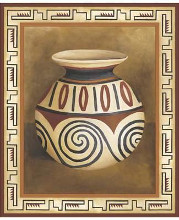 Southwest Pottery IV poster print by Zarris Chariklia