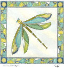 Luminous Dragonfly II poster print by Lam Vanna