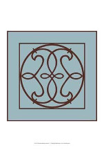Chocolate And Blue Ironwork V poster print by Chariklia Zarris