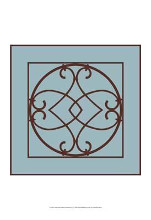 Chocolate And Blue Ironwork VI poster print by Chariklia Zarris