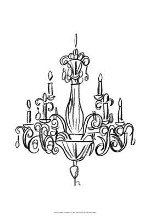 Graphic Chandelier I poster print