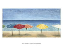 Ocean Umbrellas II poster print by Megan Meagher