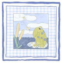 Frog with Plaid (Pp) I poster print by Meagher Megan