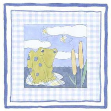 Frog with Plaid (Pp) II poster print by Meagher Megan