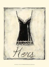 Hers- French Lace poster print by Chariklia Zarris
