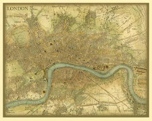 Map Of London poster print