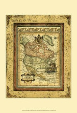 Crackled Map Of North America poster print by Deborah Bookman