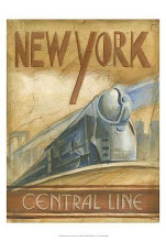 New York Central Line poster print by Ethan Harper