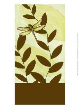 Dragonfly Whimsey I poster print by Jennifer Goldberger