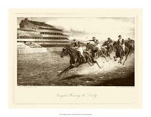 Winning The Derby poster print by Harington Bird