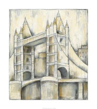 Urban Bridgescape II poster print by Jennifer Goldberger