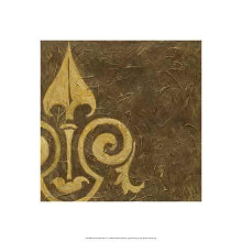 Gold Damask III poster print by Chariklia Zarris