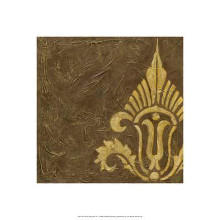 Gold Damask IV poster print by Chariklia Zarris