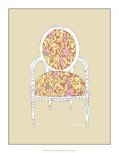 Decorative Chair I poster print by Chariklia Zarris