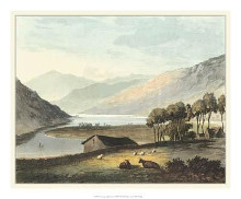 Picturesque English Lake I poster print by Th Fielding
