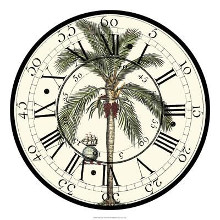 Antique Palm Clock poster print by Vision Studio