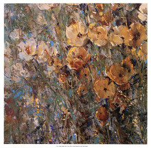 Amber Poppy Field I poster print by Timothy O'Toole