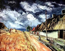 Red Field poster print by Maurice Vlaminck