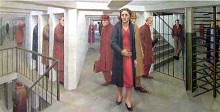 Subway 1950 poster print by George Tooker